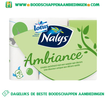 Nalys/Lotus Toiletpapier ambiance aanbieding