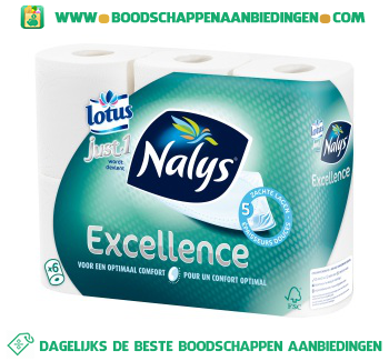 Nalys/Lotus Toiletpapier excellence aanbieding