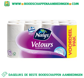 Nalys/Lotus Toiletpapier velours aanbieding