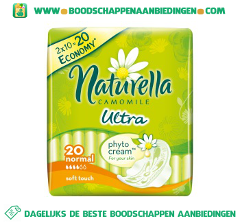 Naturella Ultra maandverband normal plus met vleugels aanbieding