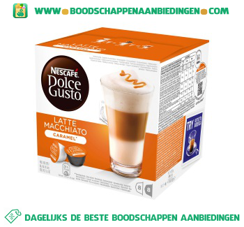 Nescafé Dolce Gusto latte macchiato caramel aanbieding