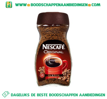 Nescafé Original oploskoffie aanbieding
