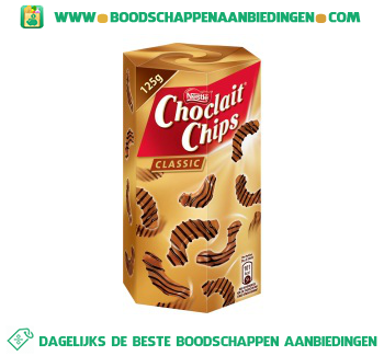 Nestlé Choclait chips puur aanbieding