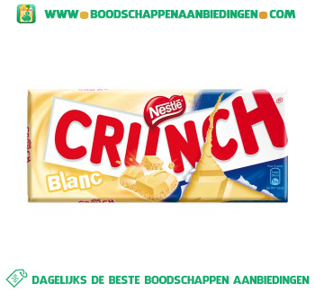Nestlé Chocoladereep wit crunch aanbieding
