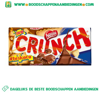 Nestlé Crunch tablet biscuit aanbieding
