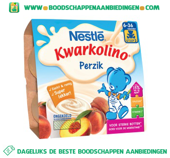 Nestlé Kwarkolino perzik aanbieding