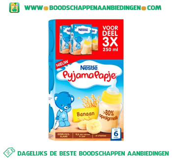 Nestlé Pyjamapapje banaan vanaf 6 mnd aanbieding