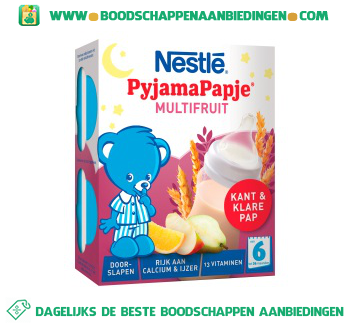Nestlé Pyjamapapje multifruit vanaf 6 mnd aanbieding