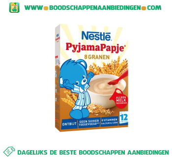 Nestlé Pyjamapapje ontbijt 8 granen vanaf 12 mnd aanbieding