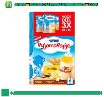Nestlé Pyjamapapje vanille aanbieding