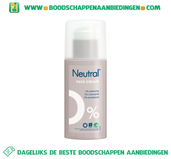 Neutral Face Cream Parfumvrij aanbieding