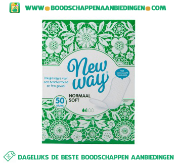 New Way Inlegkruisjes normaal soft aanbieding