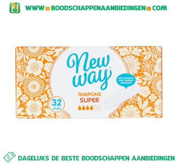 New Way Tampons super aanbieding
