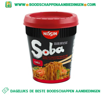 Nissin Soba cup chilli aanbieding