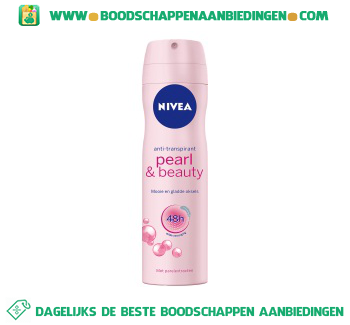 Nivea Deospray pearl & beauty aanbieding