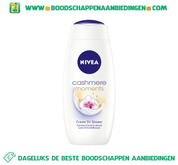 Nivea Douche care & cashmere moments aanbieding