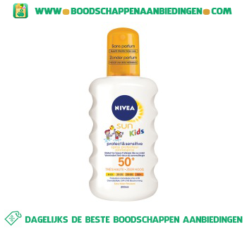 Nivea Kids pure & sensitive spray aanbieding