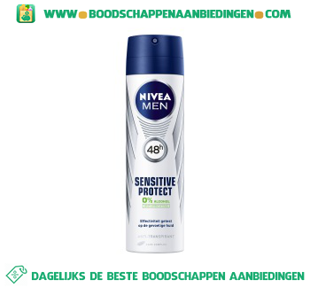 Nivea Men Deospray sensitive men aanbieding