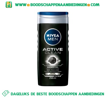 Nivea Men Douche active clean men aanbieding