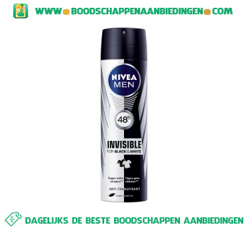 Nivea Men Men deospray invisible black & white aanbieding