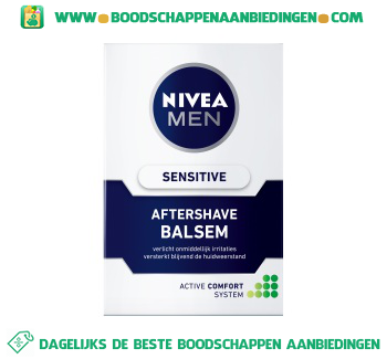 Men sensitive aftershave balsem aanbieding