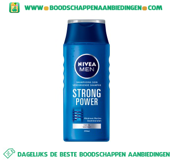 Nivea Men Men shampoo strong power aanbieding