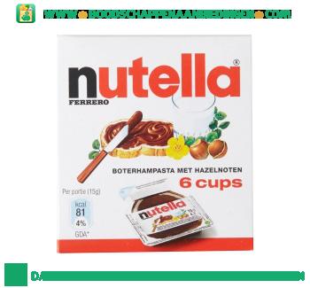 Nutella Hazelnootpasta cups aanbieding