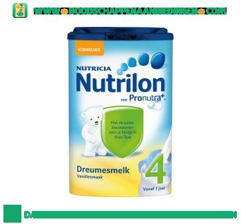 Nutrilon Dreumes groeimelk vanille 4 aanbieding