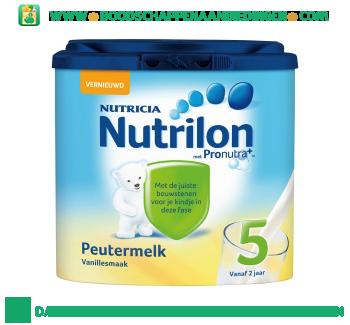 Nutrilon Peutermelk 5 vanille aanbieding