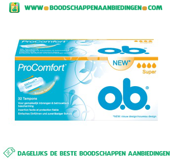 O.B. ProComfort tampons super aanbieding