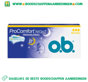 O.B. Tampons comfort night normal aanbieding