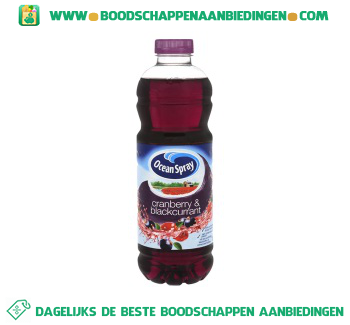 Ocean Spray Cranberry & blackcurrant aanbieding
