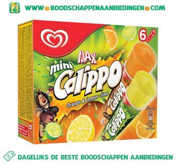 Ola IJs calippo minis orange-lemon aanbieding