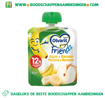 Olvarit 12m appel/banaan friends aanbieding
