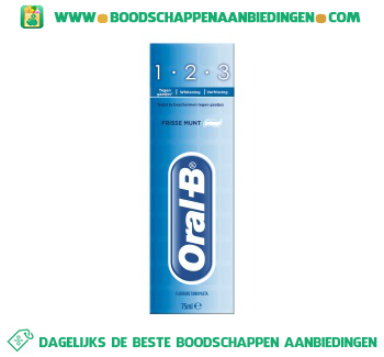 Oral-B 1-2-3 Fresh mint tandpasta aanbieding
