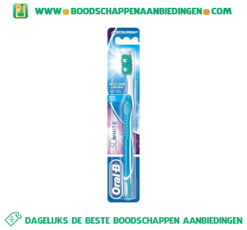 Oral-B 3DWhite white fresh tandenborstel medium aanbieding