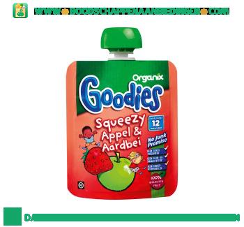 Organix Goodies squeezy appel & aardbei aanbieding