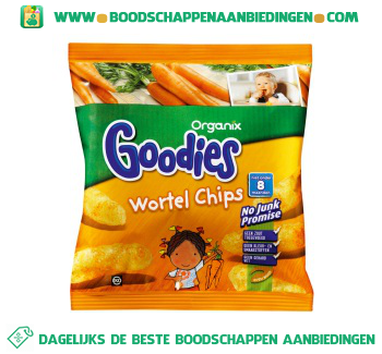 Organix Goodies wortel chips aanbieding