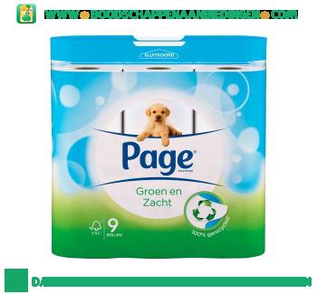 Page Toiletpapier groen zacht aanbieding