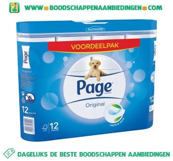 Page Toiletpapier original aanbieding