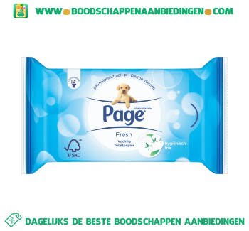 Page Vochtig toilet papier fresh navul aanbieding