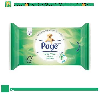 Page Vochtig toiletpapier aloë vera navul aanbieding