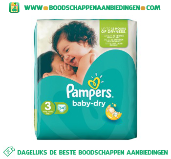 Baby dry luiers maat 3 (midi) 4-9 kg aanbieding