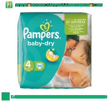 Pampers Baby dry luiers maat 4 (maxi) 7-18 kg aanbieding