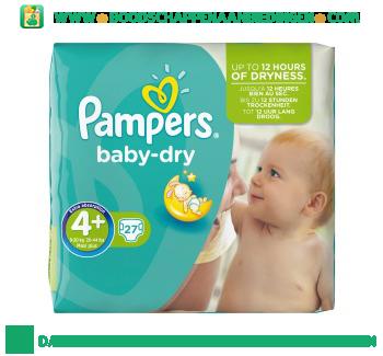 Baby dry luiers maat 4+ maxi+ 9-20 kg aanbieding