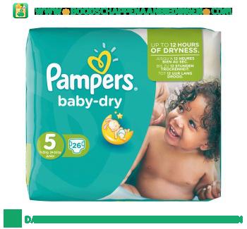 Pampers Baby dry luiers maat 5 (junior) 11-25 kg aanbieding