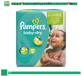 Pampers Baby dry luiers maat 5+ (junior+) 13-27 kg aanbieding