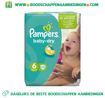 Pampers Baby dry luiers maat 6 (extra large) 15+ kg aanbieding