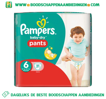 Pampers Baby dry pants extra large 6 aanbieding