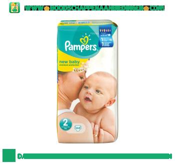 Pampers New baby luiers maat 2 (mini) 3-6 kg aanbieding